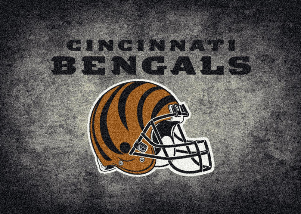 Nfl Distressed Helmet 4019 Cincinnati Bengals Area Rug By