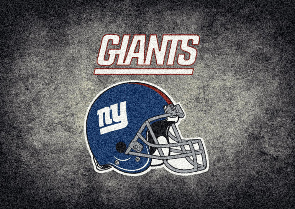 Nfl Distressed Helmet 4064 New York Giants Area Rug By