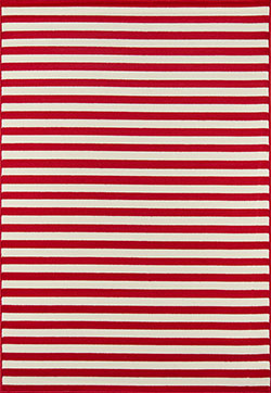 Momeni Baja BAJ-1 Stripe Red Area Rug