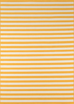 Momeni Baja BAJ-1 Stripe Yellow Area Rug