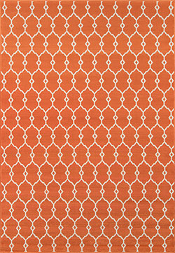 Momeni Baja BAJ-2 Trellis Orange Area Rug