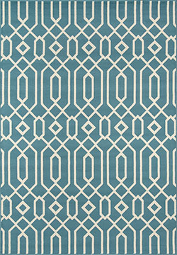 Momeni Baja BAJ-3 Links Blue Area Rug