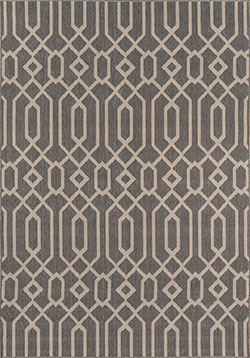 Momeni Baja BAJ-3 Links Grey Area Rug