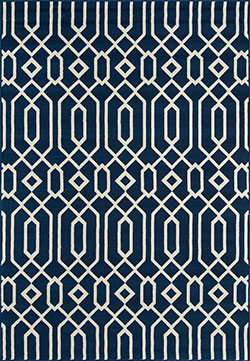 Momeni Baja BAJ-3 Links Navy Area Rug