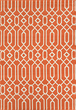 Momeni Baja BAJ-3 Links Orange Area Rug
