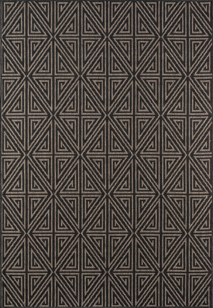 Momeni Baja BAJ-4 Diamonds Charcoal Area Rug