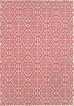 Momeni Baja BAJ-4 Diamonds Red Area Rug