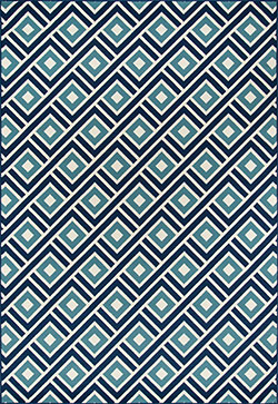 Momeni Baja BAJ-7 Blocks Blue Area Rug