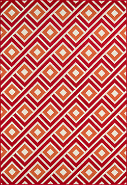 Momeni Baja BAJ-7 Blocks Red Area Rug