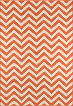 Momeni Baja BAJ-9 Chevron Orange Area Rug