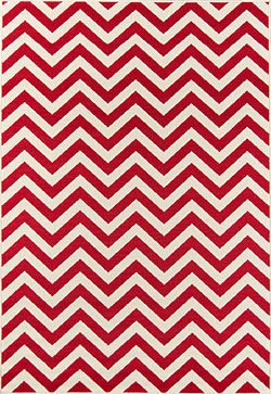 Momeni Baja BAJ-9 Chevron Red Area Rug