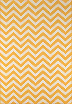 Momeni Baja BAJ-9 Chevron Yellow Area Rug