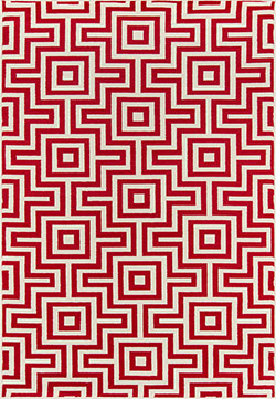 Momeni Baja BAJ-10 Retro Red Area Rug