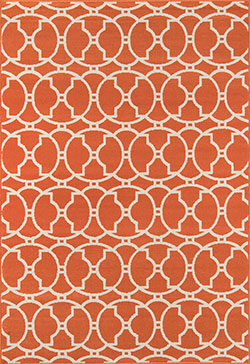 Momeni Baja BAJ-11 Moroccan Tile Orange Area Rug