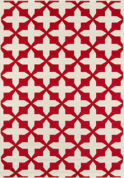 Momeni Baja BAJ-12 Crisscross Red Area Rug