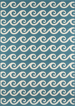 Momeni Baja BAJ-14 Waves Blue Area Rug