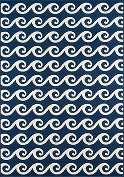 Momeni Baja BAJ-14 Waves Navy Area Rug