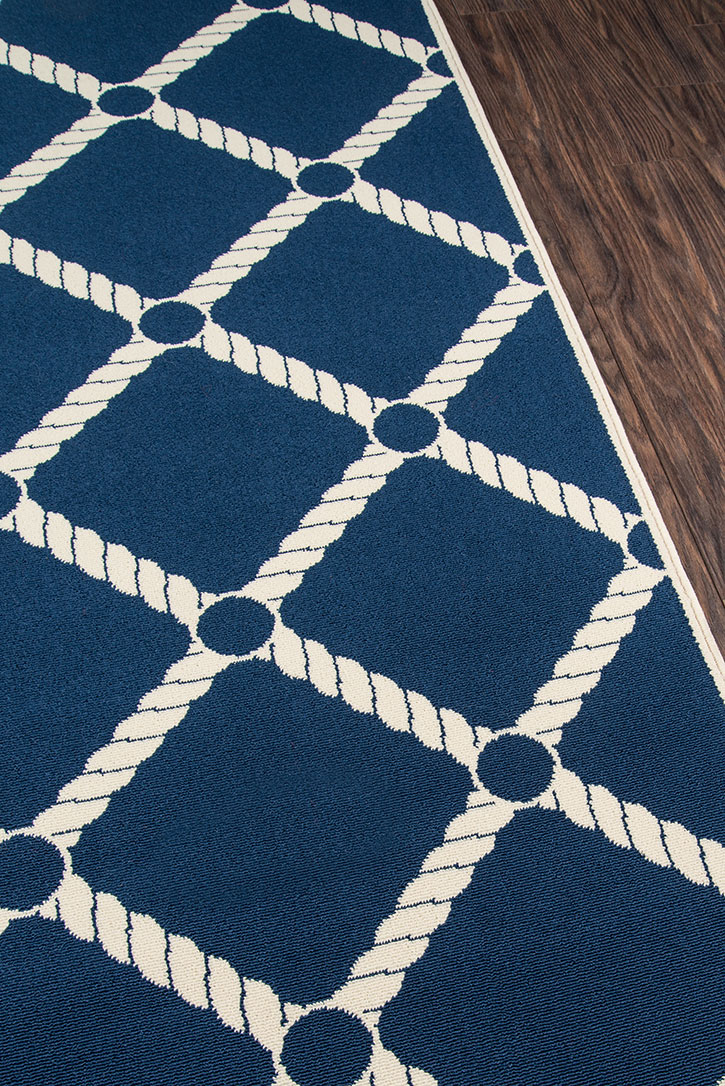 Momeni Baja Baj 15 Nautical Rope Navy Area Rug