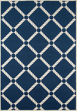 Momeni Baja BAJ-15 Nautical Rope Navy Area Rug