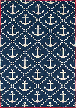 Momeni Baja BAJ-16 Anchors Navy Area Rug