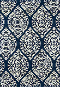 Momeni Baja BAJ-17 Arabesque Navy Area Rug