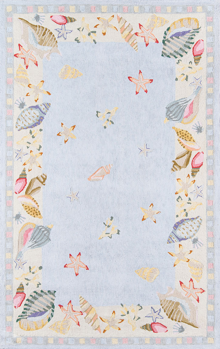 Momeni Coastal Cc 04 Light Blue Area Rug Carpetmart Com