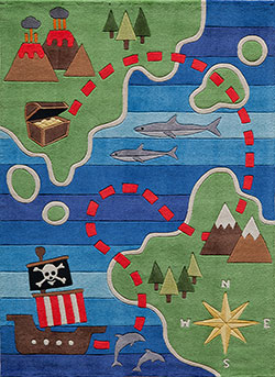 Momeni Lil Mo Whimsy LMJ-25 Pirate Multi Area Rug