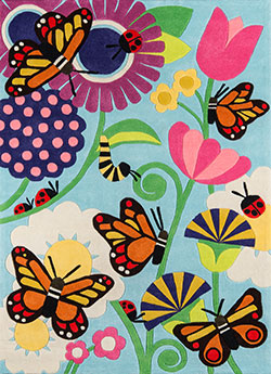 Momeni Lil Mo Whimsy LMJ-26 Butterfly Multi Area Rug