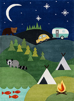 Momeni Lil Mo Whimsy LMJ-31 Camping Blue Area Rug