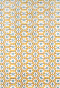 Novogratz by Momeni Terrace TRC-1 Hex Tile Yellow Area Rug
