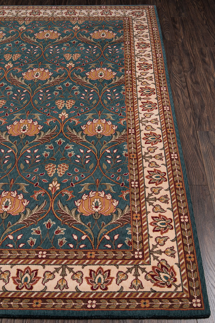 Momeni Persian Garden Pg 12 Teal Blue Area Rug