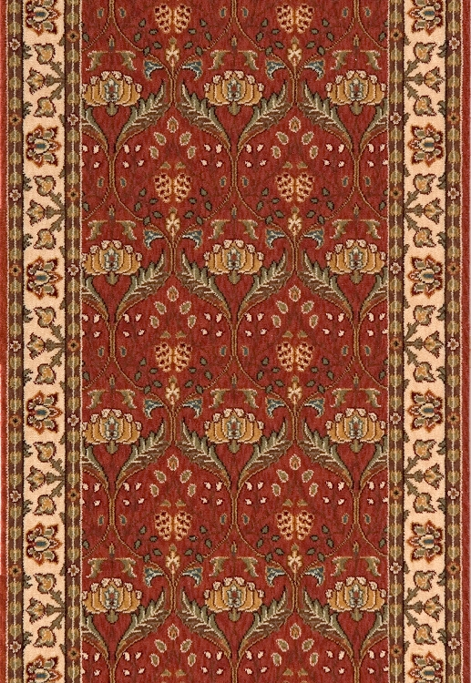 Persian Garden Pg 12 Salmon Stair And Hallway Runner By