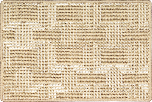 Nourison 50 to Infinity - Grosse Pointe Chandler Sand/Ivory-B Custom Area Rug