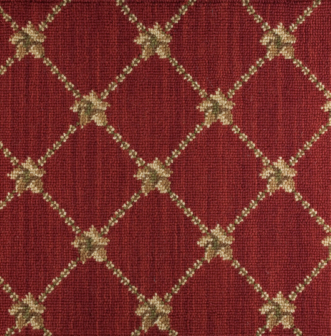 Nourison 50 to Infinity - Luxe Point Flower Trellis LP03 Red-B Custom Area Rug