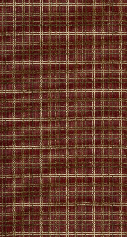 Nourison 50 To Infinity Luxe Point Luxe Plaid Lp17 Red B