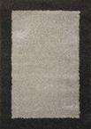Nourison Amore Shag AMOR5 Silver/Charcoal Area Rug