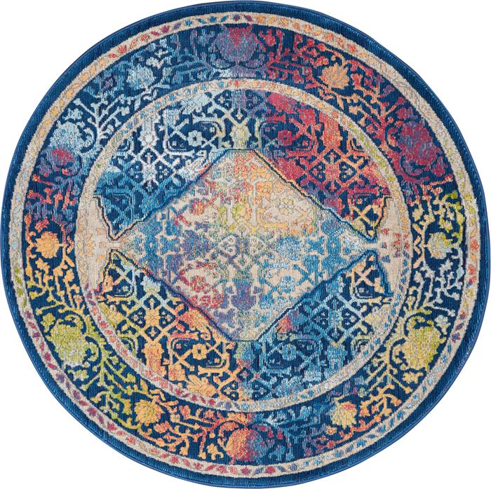 Nourison Ankara Global Anr04 Blue Multicolor Area Rug