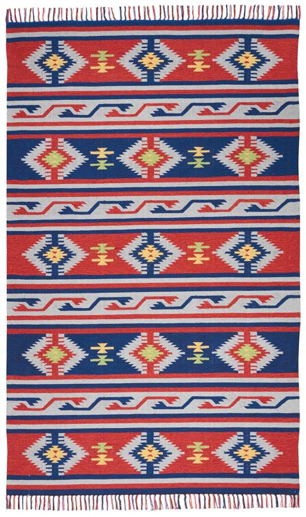 Nourison Baja BAJ03 Blue/Red Area Rug