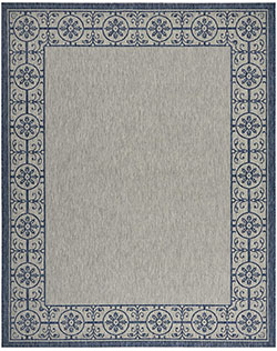 Nourison Country Side CTR03 Ivory Blue Area Rug