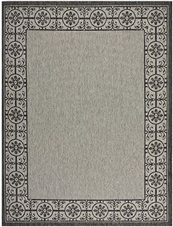 Nourison Country Side CTR03 Ivory/Charcoal Area Rug