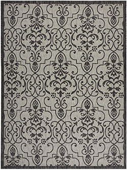 Nourison Country Side CTR04 Ivory/Charcoal Area Rug