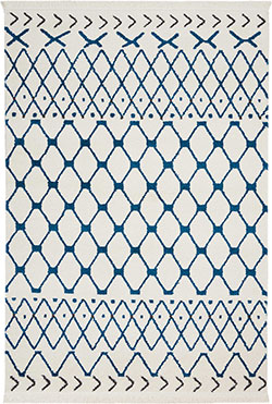 Nourison DWS05 Kamala DS500 White/Blue Area Rug