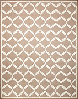 Nourison Decor DER06 Taupe/White Area Rug