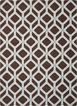 Nourison Enhance EN003 Choclate/Blue Area Rug
