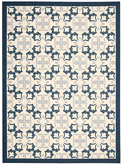 Nourison Enhance EN200 Blue Area Rug