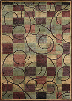 Nourison Expressions XP01 Brown Area Rug