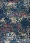 Nourison Fusion FSS17 Blue/Multi Colored Area Rug