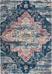 Nourison Fusion FSS13 Navy/Pink Area Rug