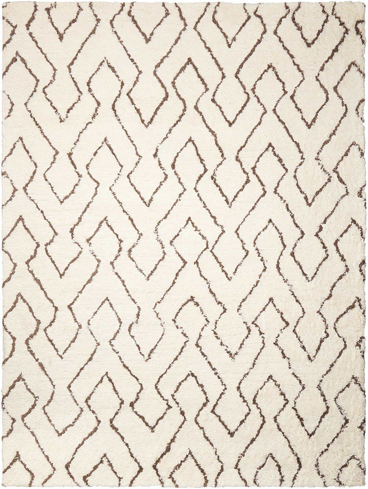 Nourison Galway GLW03 Ivory/Chocolate Area Rug