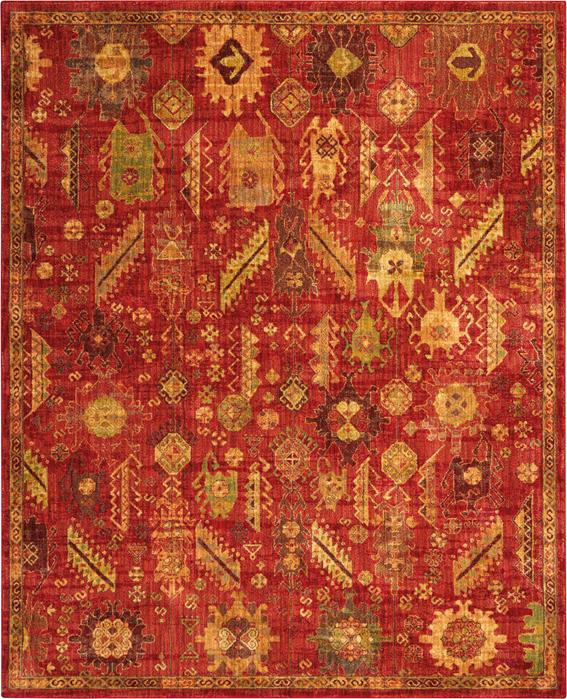 Mohawk Home Traditional Jewel Rug: Nourison Jewel JEL04 Red Area Rug